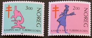 Norway 1982 #802-3 MNH. Anti TB