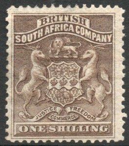 RHODESIA-1892-93 1/- Grey-Brown Sg 4 MOUNTED MINT V37843