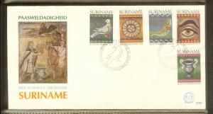 1983 - Rep. Surinam FDC E069 - Festivals & Seasonal - Easter - Mosaic from Ra...