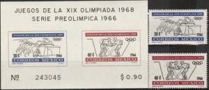 Mexico #974-5, 975a  MNH CV $6.25 (A17540)