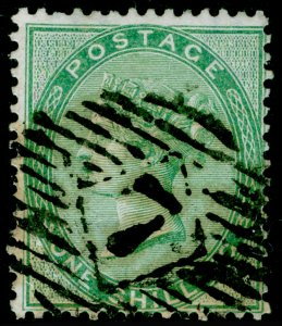SG72b, 1s green, USED. Cat £400. THICK PAPER.