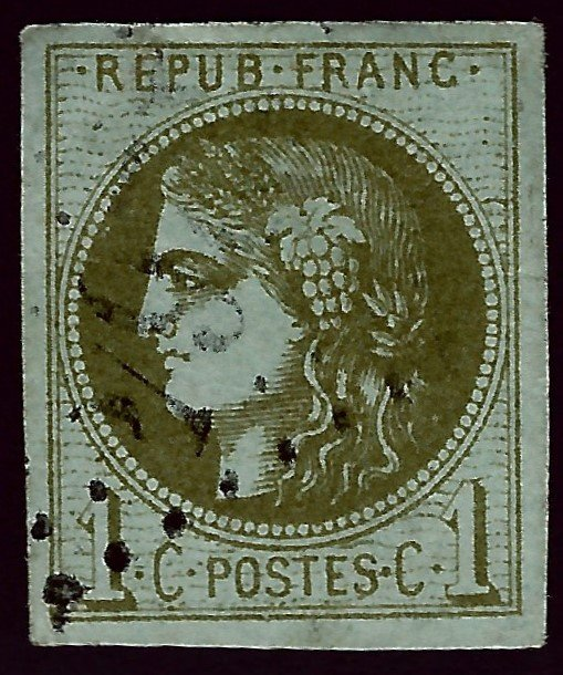 France Sc #38 Used VF SCV$115...French Stamps are Iconic!