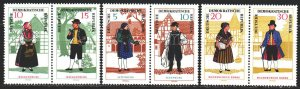 GDR. 1966. 1214-19. National costumes. MNH.