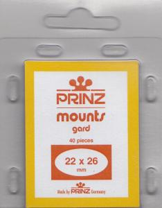 PRINZ CLEAR MOUNTS 22X26 (40) RETAIL PRICE $3.99