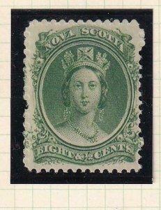 NOVA SCOTIA (ns) # 11-VF-MNH 8.5cts GREEN YELLOWISH PAPER CAT VALUE $30+