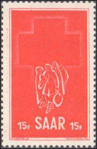 Saar #230, Complete Set, 1952, Red Cross, Hinged