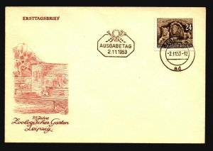 Germany DDR - 4 1953 Cacheted FDC - Z16010