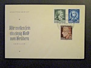 Germany DDR SC# 241 / 243 1955 FDC / Unaddressed / Cacheted - Z4543