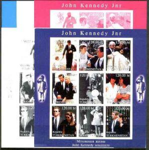 Turkmenistan 1999 John Kennedy Jnr #1 sheetlet containing...
