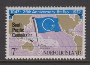 Norfolk Island 1972 South Pacific Commission Sc#149 MLH