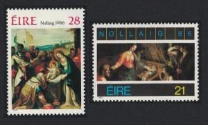 Ireland Christmas 2v SG#654-655