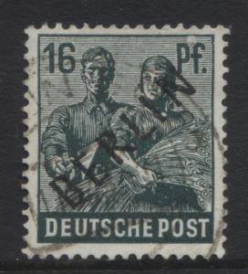Germany-Occupation- Scott 9N7 -Overprints -1948- VFU -Single 16pf Stamp