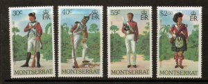 MONTSERRAT SG441/4 1979  MILITARY UNIFORMS MNH