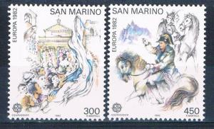 San Marino 1019-20 MNH set Europa 1982 (S0864)