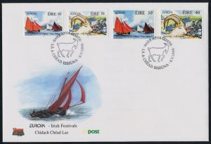 Ireland 1124-7 on FDC- Boats, Festivals, Puck Fair, Architecture, Goat