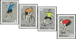 Taiwan Stamp Sc 3776-3779 spots MNH