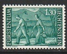 1964 Liechtenstein - Sc 348 - 1 singles - MNH VF - Return from the field