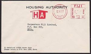 FIJI 1977 local Suva cover with Housing Authority meter.....................5844