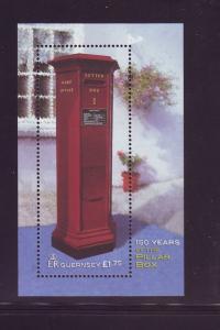 Guernsey Sc 768 2002 Pillar Mail Box stamp sheet mint NH