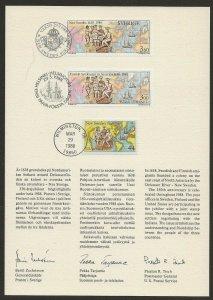 US/Finland/Sweden Joint Issue Sc #C117 / #1672 / #768 Letter & Folder