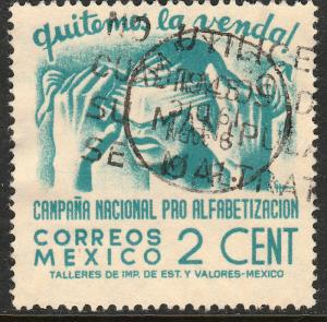 MEXICO 806, 2cents Blindfold, Literacy Campaign Used (841)