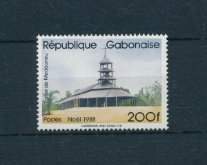 [104728] Gabon 1988 Christmas Weihnachten church  MNH