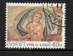 Cyprus Sc 748 1989 40c Doris stamp used