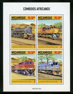 MOZAMBIQUE 2020  AFRICAN TRAINS SHEET MINT NH