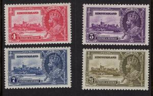 Newfoundland  #226-229   MH   1935  Silver Jubilee issue