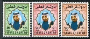 HERRICKSTAMP QATAR Sc.# 690-92 1987 High Values