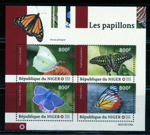 NIGER 2019 BUTTERFLIES SHEET   MINT NEVER HINGED