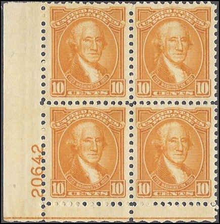 715 Mint,OG,NH... Plate Block of 4... SCV $110.00... Beauty