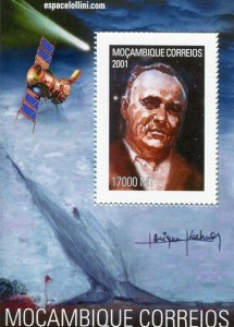 Mozambique 2001 Astronomy SPACE Halley's Comet s/s Perforated Mint (NH)
