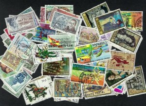 Spain Collection of 100 different Pictoral Stamps