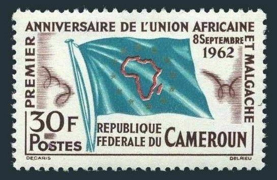Cameroun 373,MNH,small damage of gum.Mi 374. African-Malagasy Union,1962.Flag