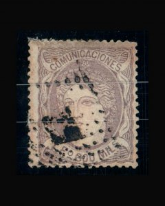 VINTAGE:SPAIN 1870  SCOTT # 170 $ 850 LOT # VSWSP1870-45