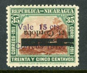 Nicaragua 1913 Liberty Overprint ½¢/15¢/35¢ Inverted Scott 338b Mint O381