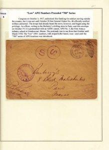 1917, APO 3, Gondrecourt to Bluberry's Clothing Store, Paris, Ex Lowther (M4638)