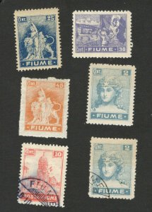 FIUME- 6 MNH/MH/USED STAMPS  (2)