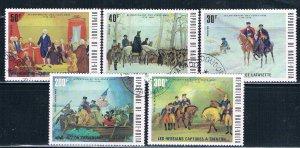Burkina Faso 365-67;C209-10 Used set American Bicentennial 1975 (HV0429)
