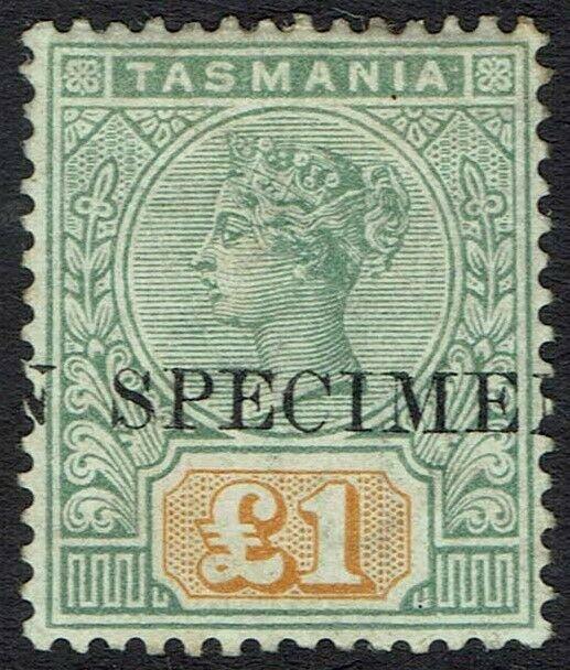 TASMANIA 1892 QV TABLET 1 POUND SPECIMEN