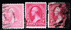 US STAMP #248-250 2C 1894 Bureau Issue Used Stamps Lot