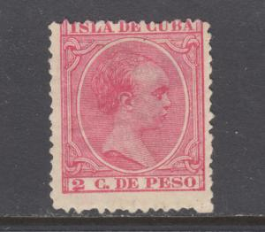 Cuba Sc 138 MOG. 1894 2c rose King Alfonso XIII, large thin, nice appearing.