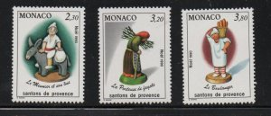 Monaco Sc 1737-39 1990 Workers stamp set  mint NH