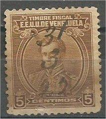 VENEZUELA, 1915, used 5c Marshall Antonio José de Sucre Mi:VE ST116