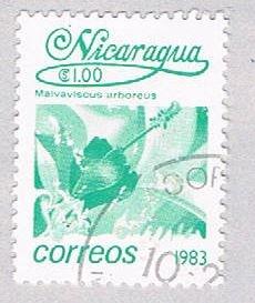 Nicaragua Flower green 1 - pickastamp (AP109007)