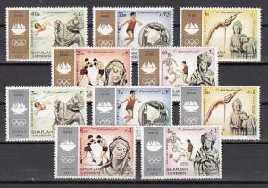 Sharjah, Mi cat. 839-848 A. Munich Olympics issue. ^