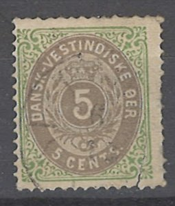 COLLECTION LOT # 2005 DANISH WEST INDIES  #8 1876 CV=$20 TEAR ON RIGHT SIDE
