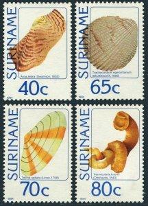 Surinam 669-672,MNH.Michel 1071-1074. Local sea shells,1984.