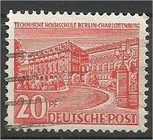 BERLIN, 1949, used 20pf Buildings Scott 9N49